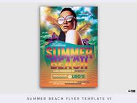 Summer Beach Flyer Template V1