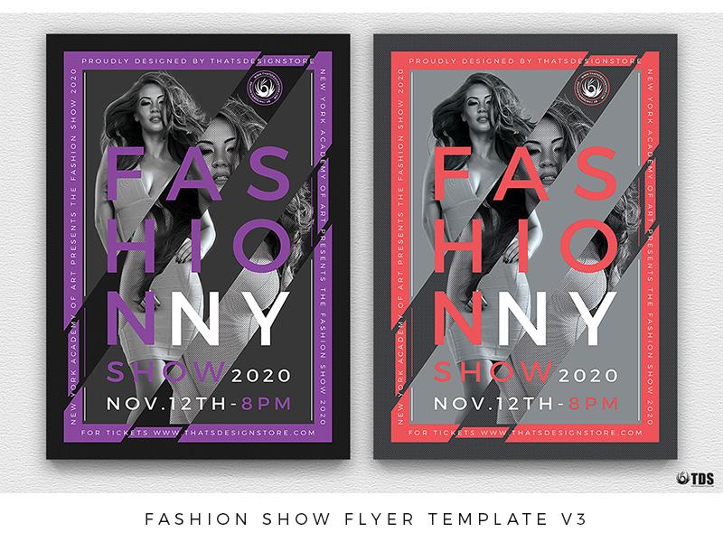 Fashion Show Flyer Template V3 By Lionel Laboureur Dribbble