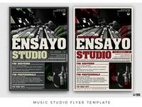 Music Studio Flyer Template
