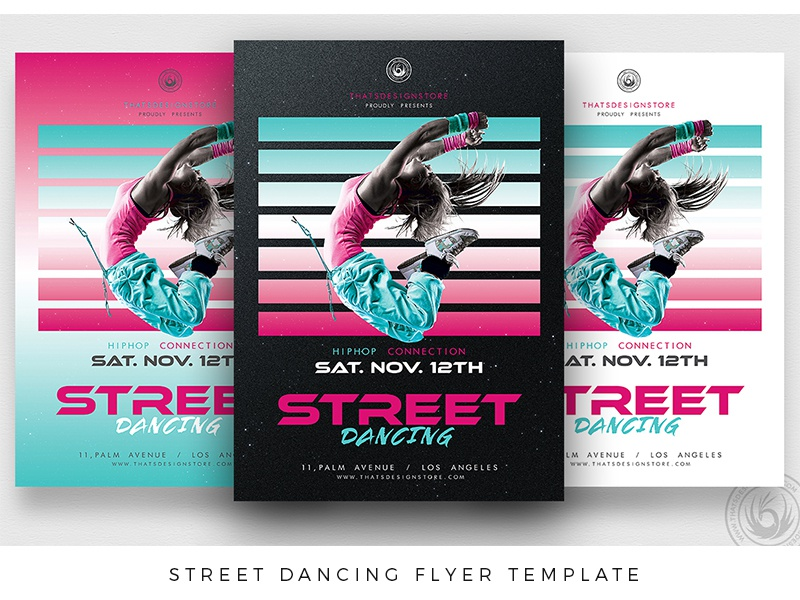 street dancing flyer template by lionel laboureur dribbble dribbble