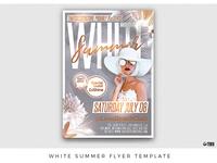 White Summer Flyer Template