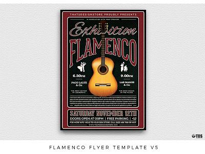 Flamenco Flyer Template V5 live dance concert music tablado unplugged guitarist guitar flamenco poster flyer thatsdesignstore