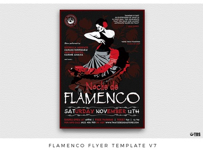 Flamenco Flyer Template V7 flamenco dance dancing live classes poster flyer thatsdesignstore music show