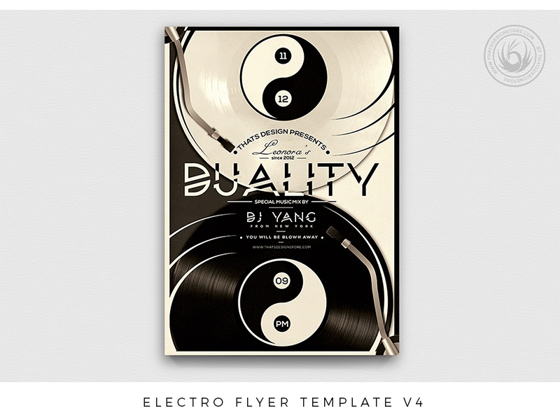 Electro Flyer Template V4 by Lionel Laboureur - Dribbble