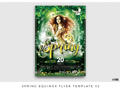 Spring Equinox Flyer Template V2
