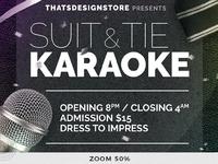 classy karaoke flyer template by lionel laboureur dribbble dribbble