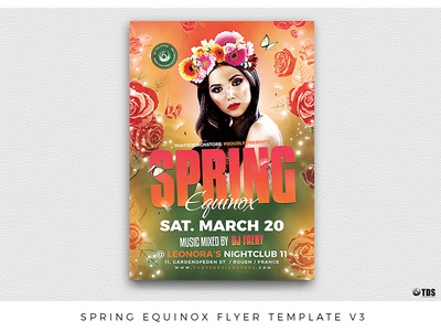 Spring Equinox Flyer Template V3