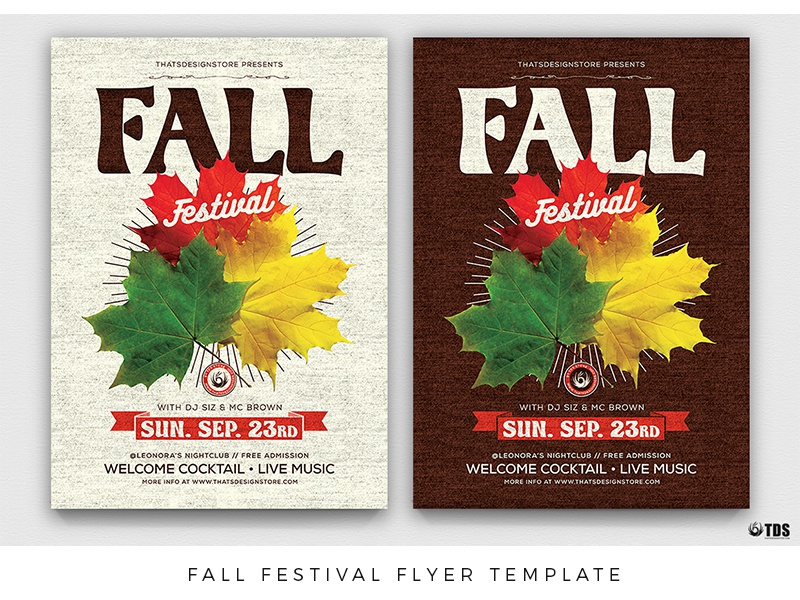 fall festival flyer template by lionel laboureur dribbble dribbble