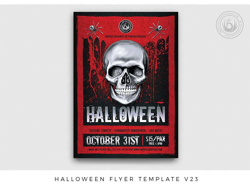 halloween flyer template v23 by lionel laboureur dribbble dribbble