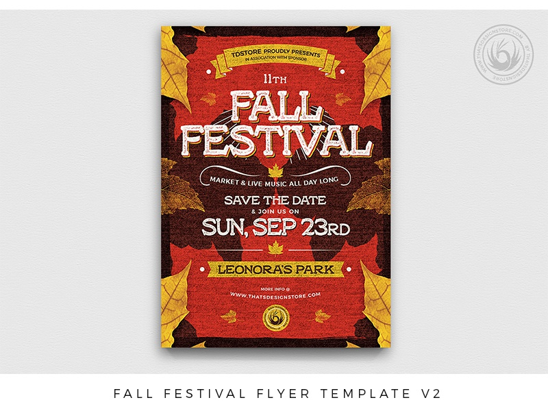 fall festival flyer template v2 by lionel laboureur dribbble