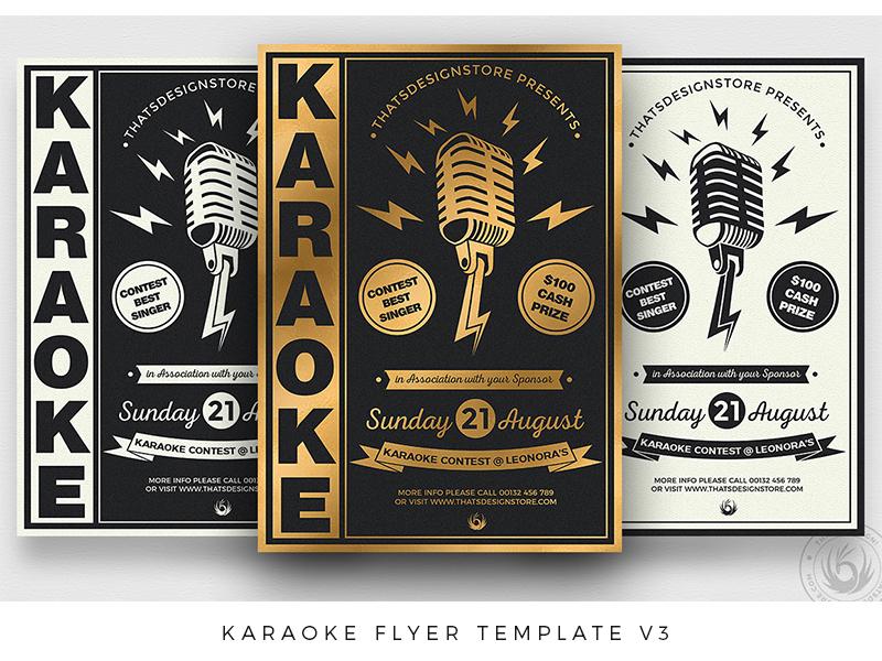Karaoke Flyer Template V3 By Lionel Laboureur Dribbble