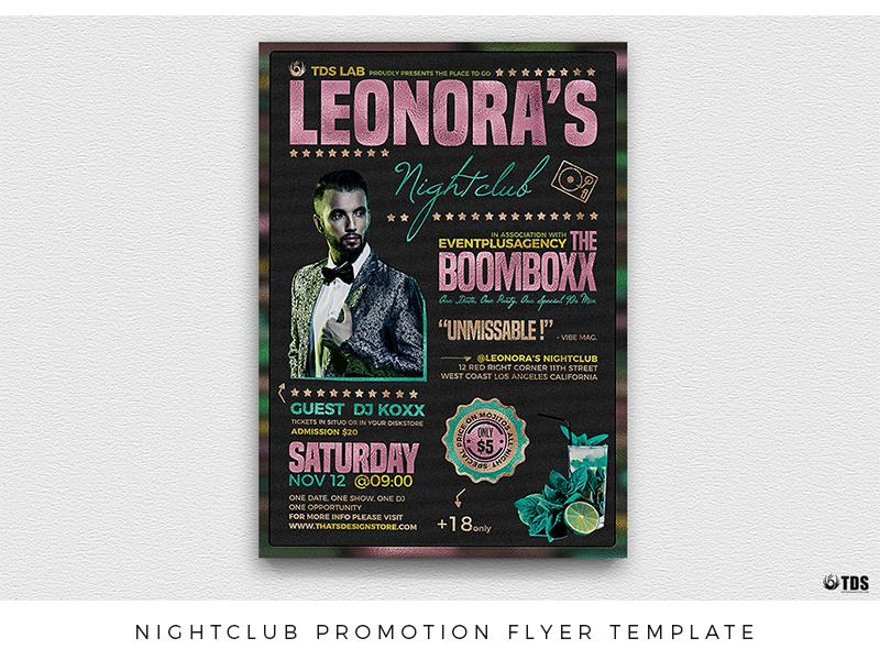 nightclub promotion flyer template by lionel laboureur dribbble