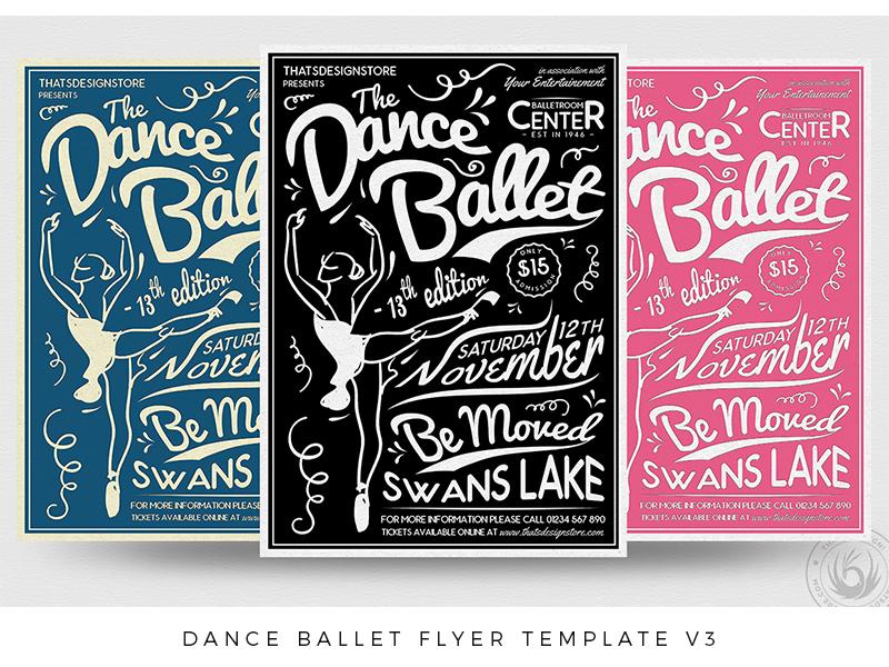 dance ballet flyer template v3 by lionel laboureur dribbble dribbble
