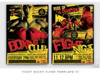 Fight Night Flyer Template V1