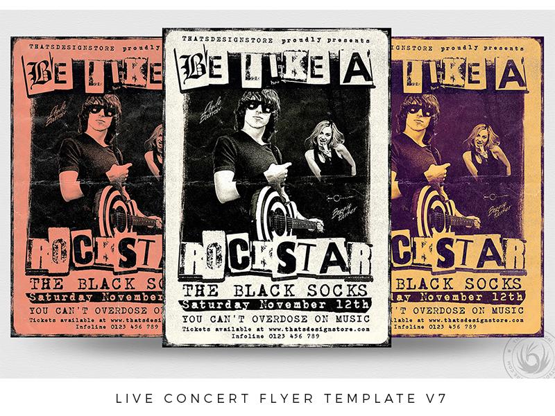 live concert flyer template v7 by lionel laboureur dribbble dribbble