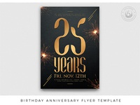 Birthday Anniversary Flyer Template