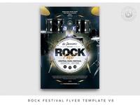 Rock Festival Flyer Template V8