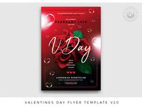 Valentines Day Flyer Template V20