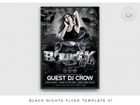 Black Nights Flyer Template V1