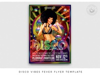 Disco Vibes Fever Flyer Template