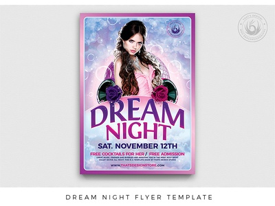 Dream Night Flyer Template