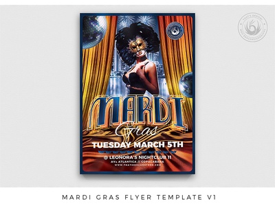 Mardi Gras Flyer Template V1