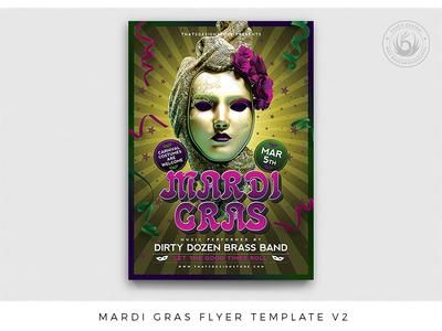 Mardi Gras Flyer Template V2