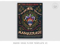Mardi Gras Flyer Template V3
