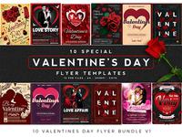 10 Valentines Day Flyer Bundle V1
