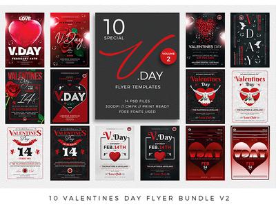 10 Valentines Day Flyer Bundle V2