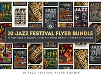 10 Jazz Festival Flyer Bundle