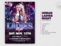 01 urban ladies night flyer template