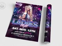 03 urban ladies night flyer template
