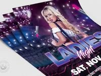 05 urban ladies night flyer template