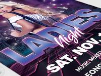 06 urban ladies night flyer template