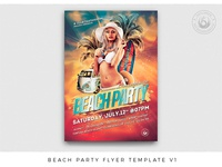 Beach Party Fyer Template V1