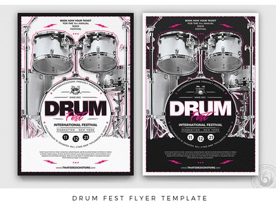Drum Fest Flyer Template