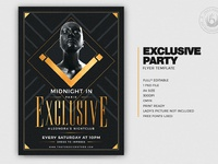 01 exclusive party flyer template