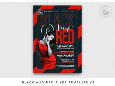 Black and Red Flyer Template V5