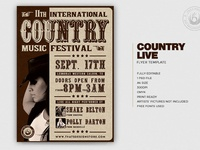 Country Live Flyer Template V7 by Lionel Laboureur for Thats