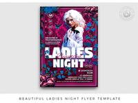 Beautiful Ladies Night Flyer Template