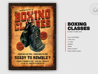 01 vintage boxing classes flyer template
