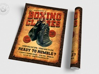 03 vintage boxing classes flyer template