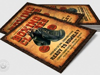 04 vintage boxing classes flyer template