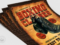 05 vintage boxing classes flyer template