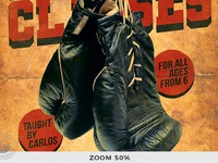 07 vintage boxing classes flyer template