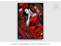 Black and Red Flyer Template V1