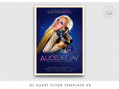 DJ Guest Flyer Template V8