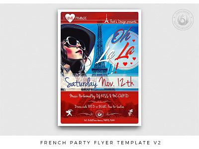 French Party Flyer Template V2 14 juillet july 14th republic dj fest festival bastille national love glamour eiffeltower paris france photoshop psd template party poster flyer party french