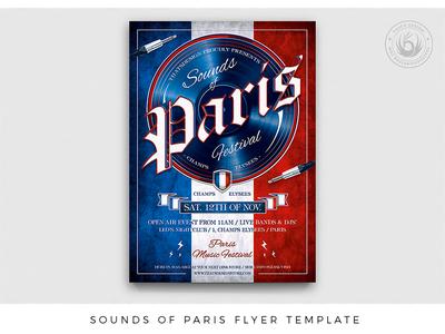 Sounds of Paris Flyer Template
